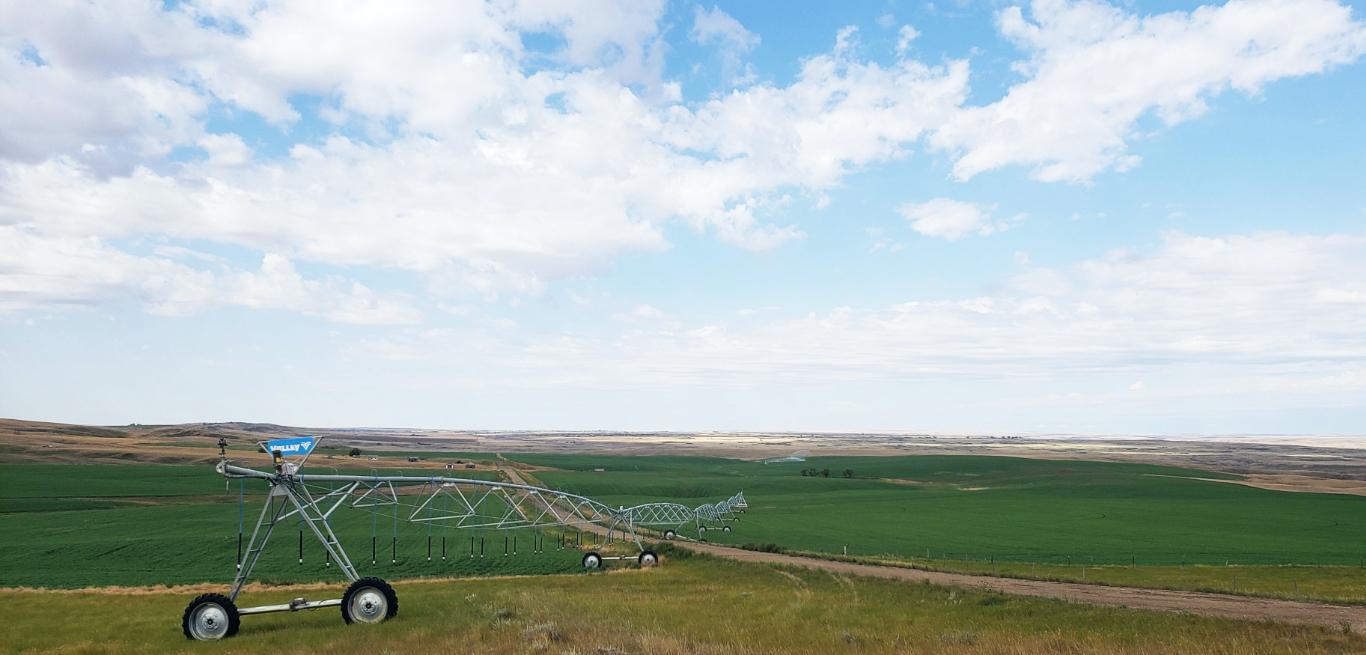 Valley Center Pivot in Field Saskatchewan Canada