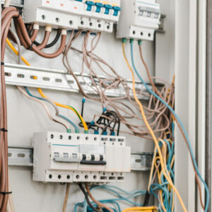Electrical panel. Western Water Management services