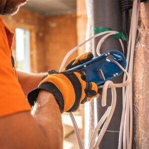 Man Conducting Electrical Contracting Services