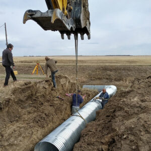 Up to 15 inch pipe in diameter for trenching in Canada